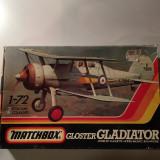 Macheta avion biplan GLOSTER GLADIATOR PK-8 Model Kit by MATCHBOX (Original!!!), 1:72
