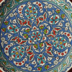 Vechi Platou / Farfurie pictata manual - ceramica Altin Cini / Kutahia Turkiye - Arta Ceramica
