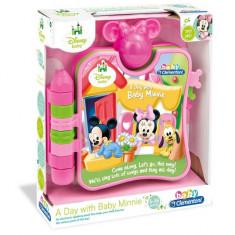 "Carte interactiva ""O zi cu Baby Minnie"" - CLEMENTONI - OKAZIE - Jocuri Logica si inteligenta Clementoni, 12-24 luni, Fata"