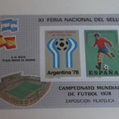 SPANIA 1978 – CM FOTBAL ARGENTINA, bloc nestampilat (1), F100 - Timbre straine