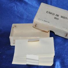 Cutie 100 hartii pentru Carti de vizita, vechi. Anul 1966. vintage, nefolosite