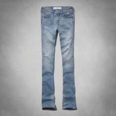 ABERCROMBIE & FITCH BLUGI Zoe Boot Mid Rise Jeans - Blugi dama Abercrombie & Fitch, Marime: 28, Culoare: Bleu, Evazati, Lungi, Normala