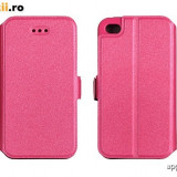 Husa Microsoft Lumia 535 Nokia Flip Case Inchidere Magnetica Pink