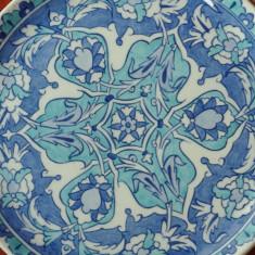 Veche Farfurie pictata manual din ceramica - Altin Cini / Kutahia Turkiye - Arta Ceramica