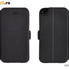 Husa Microsoft Lumia 535 Nokia Flip Case Inchidere Magnetica Black - Husa Telefon Nokia, Negru, Fara snur, Toc