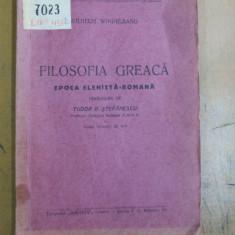 Filosofia greaca epoca elenist - romana Craiova W. Windelband - Carte veche