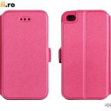 Husa Microsoft Lumia 640 Nokia Flip Case Slim Inchidere Magnetica Pink