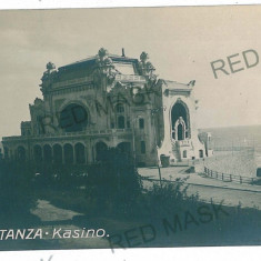 2882 - CONSTANTA, Cazino - old postcard, real PHOTO - used - Carte Postala Dobrogea 1904-1918, Circulata, Fotografie