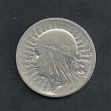 POLONIA 2 ZLOTI ZLOTE 1933 , Ag 4.28 g  [4] Regina Jadwiga , Livrare in cartonas, Europa, Argint
