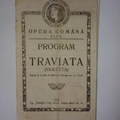 "Program - Opera Romana Cluj - 1925 - Opera ""Traviata"" - G. Verdi"