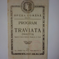 Program - Opera Romana Cluj - 1925 - Opera