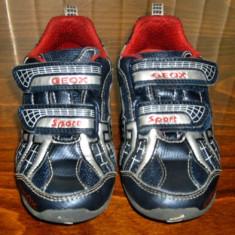 Adidasi copii Geox Italia din piele masura 26 - Super Pret, Culoare: Albastru, Baieti, Piele naturala