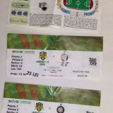 3 BILETE MECI FOTBAL VASLUI INTER MILANO  PENTRU COLECTIONARI