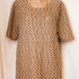 Bluza maro cu aspect pufos