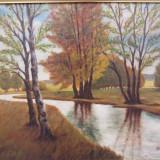 PICTURA IN ULEI - PEISAJ SEMNAT 1947 A.HERZOG - Pictor strain, Peisaje, Impresionism
