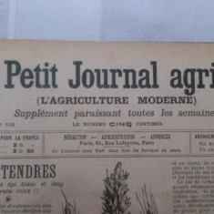 Jurnalul LE PETIT JOURNAL AGRICOLE din anul 1905 (toate aparitiile - 52) - in limba franceza - Revista vintage