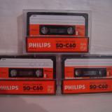 Vand 3 casete audio Philips SQ-C60,originale,raritate!