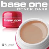 Gel uv Polonia Base One Silcare ORIGINAL, camuflaj Cover Dark 30 ml