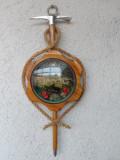 Panoplie tiroleza cu tematica montana - Alpenstock-piolet cu franghie si medalion port poza