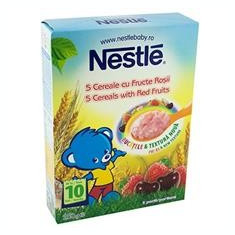 Cereale 5 Cereale Fructe Rosii Nestle 250gr Cod: 7613033979354