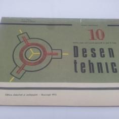 DESEN TEHNIC PENTRU CLASA A X-A, MANUAL EXPERIMENTAL/1972