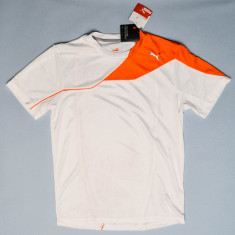 Tricou sport Puma pentru barbati - Tricou barbati Puma, Marime: M, Culoare: Alb, Maneca scurta, Poliester
