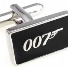 Butoni camasa model James Bond 007 + cutie SIMPLA cadou, Inox