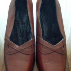 Pantof dama Made in Italia din piele marimea 37 foarte frumos - Reducere, Culoare: Din imagine, Piele naturala, Cu talpa joasa