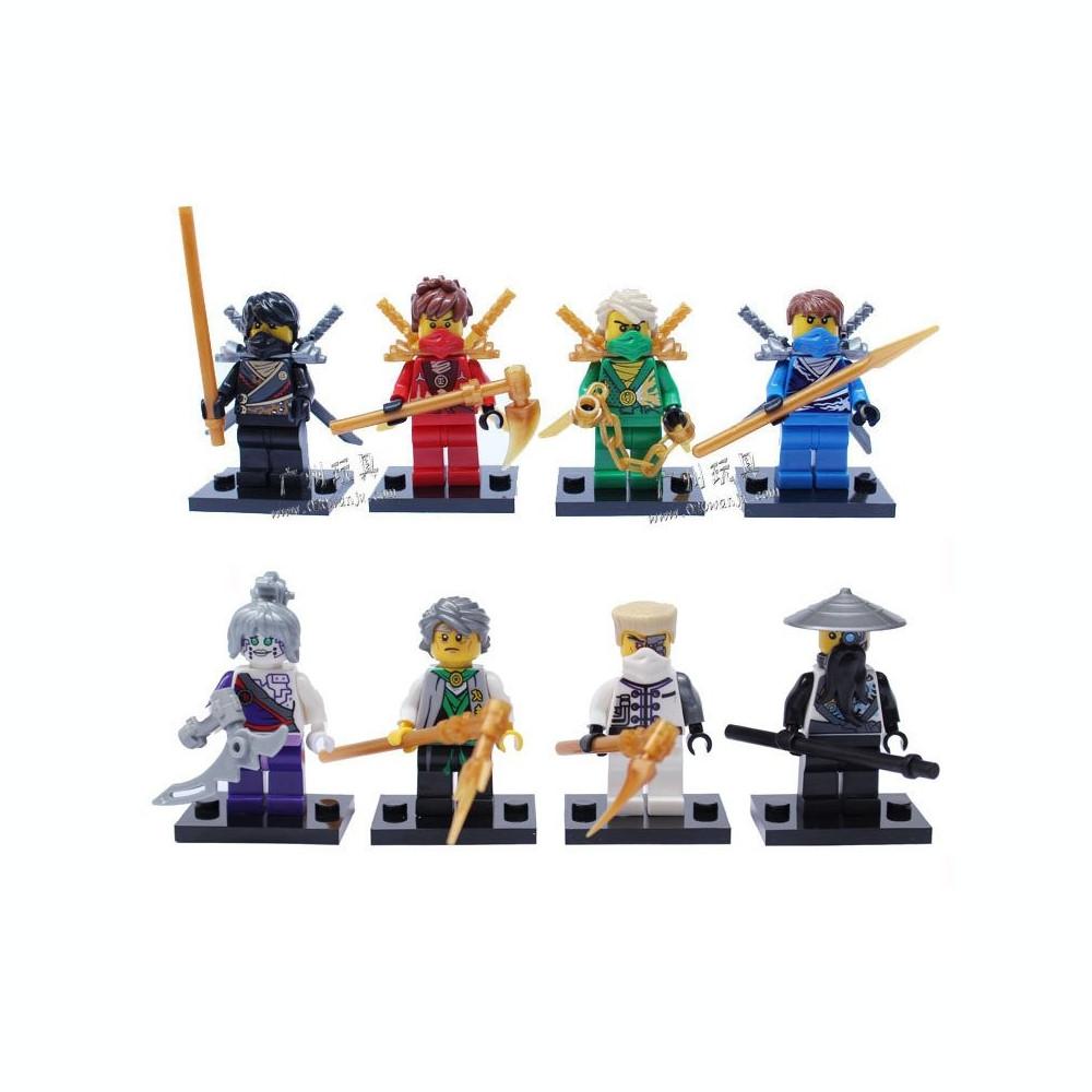 set minifigurine tip lego ninjago rebooted kai zane lloyd