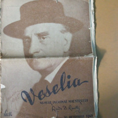Veselia Radu D. Rosetti numar inchinat maestrului 30 octombrie 1943
