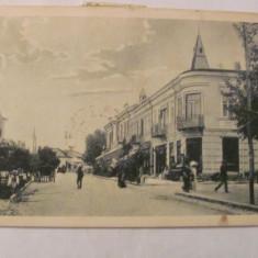 """CY - Ilustrata Pucioasa """"Strada Regala"""" circulata 1937 3 timbre si 3 stampile"""