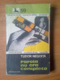 K1 Parola nu era completa - Tudor Negoita, 1982