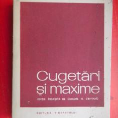 CUGETARI SI MAXIME Grigore Crivianu - Carte Proverbe si maxime