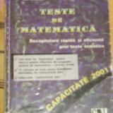 CC15 - TESTE DE MATEMATICA - EDITIE 2001