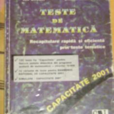 RWX 30 - TESTE DE MATEMATICA - EDITIE 2001