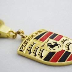 Breloc Porsche crom expediere gratuita calitate inalta a materialelor - Breloc Auto