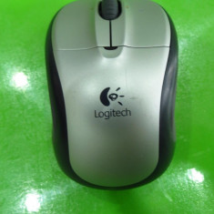Mouse optic wireless Logitech M-R0003 cu stick usb mini mouse MAS100, Optica