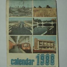 Calendar 1988 - Editura Politica almanah vechi comunist epoca de aur comunism - Calendar colectie