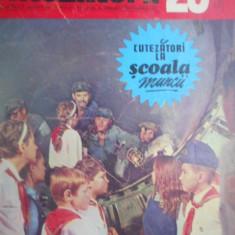 HOPCT REVISTA CUTEZATORII NR 20 - 16 MAI 1974 - PIONIERII CUTEZATORI LA SCOALA MUNCII, PE COPERTA ! - Revista scolara