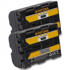 A PATONA | 2 Acumulatori pt Sony NPFM500H NP FM500H SLT-A57 SLT-A57K SLT-A57M - Baterie Aparat foto