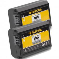 PATONA | 2 Acumulatori compatib Sony NP-FW50 NPFW50 NP FW50 NEX-5K NEX-6 NEX-7 - Baterie Aparat foto