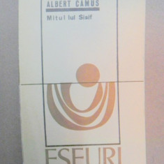 MITUL LUI SISIF-ALBERT CAMUS BUCURESTI 1969
