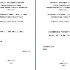 LUCRARE DE LICENTA AMG – INGRIJIREA PACIENTILOR CU POLIARTRITA REUMATOIDA (1) (+ prezentare PP)