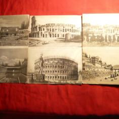 Set 10 Ilustrate ROMA  cu 2 variante Epoca noua si Epoca Romana - Ed. Asociatia de Activitati Forestiere Pro Italia