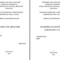 LUCRARE DE LICENTA A.M.G. - INGRIJIREA PACIENTILOR CU AMIGDALITA ACUTA ( prezentare PP)