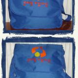 Geanta tip postas albastra din material textil - NOU