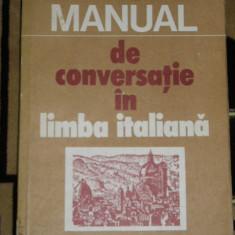 RWX 51 - MANUAL DE CONVERSATIE IN LIMBA ITALIANA - COINA CONDREA - DERER - 1982 - Curs Limba Italiana