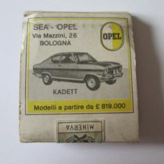 RARE! CHIBRITURI PUBLICITARE COLECTIE OPEL KADETT SI OPEL REKORD 1500 DIN ANII 60