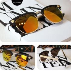 Ochelari unisex STEAMPUNK VERSACE - RETRO - ROUND - lentile polarizate - Ochelari de soare Versace, Rotunzi, Metal, Protectie UV 100%