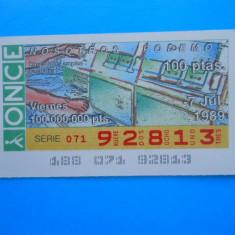 HOPCT SPANIA BILET LOTO / LOTERIE - Bilet Loterie Numismatica